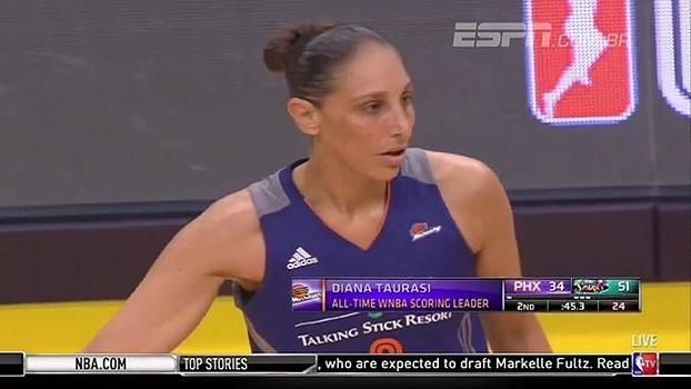 Recorde! Com uma bandeja, Diana Taurasi se torna a maior pontuadora da história da WNBA