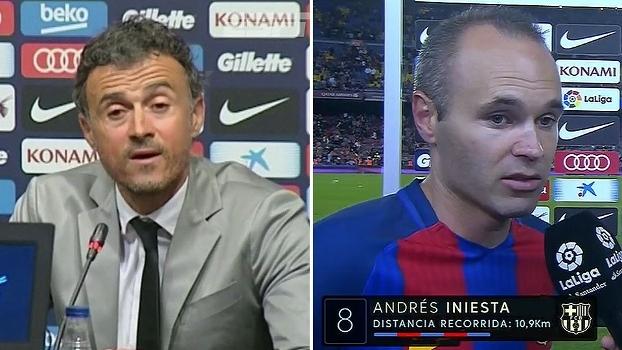 Luis Enrique fala em capacidade de nunca desistir do Barcelona; Iniesta pede foco na Copa do Rei