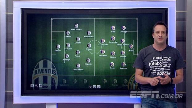 Dani Alves no meio ou na lateral? Gian analisa possíveis escalações de Juve e Real para a final da Champions