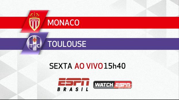Campeão em campo! Nesta sexta tem Monaco x Toulouse na tela da ESPN Brasil e WatchESPN, às 15h40