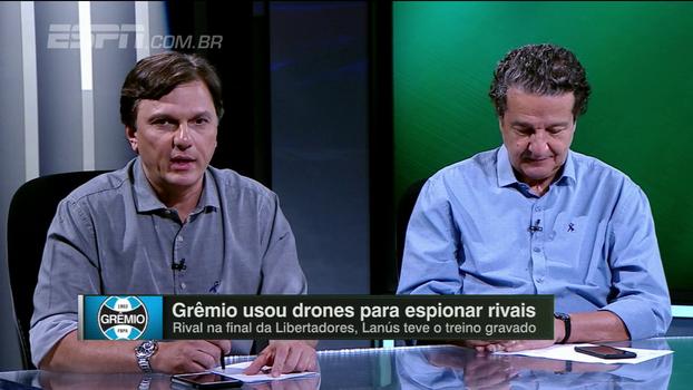 Mauro elogia núcleo de análises do Grêmio, mas pondera sobre uso de drone e cobra resposta de técnicos 'espionados'
