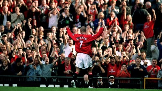 Verón fez golaço, Beckham esbanjou precisão, e Manchester United venceu Everton em 2001