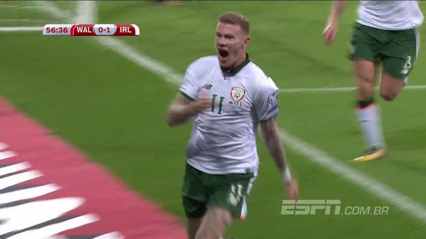 Veja o gol de País de Gales 0 x 1 Irlanda