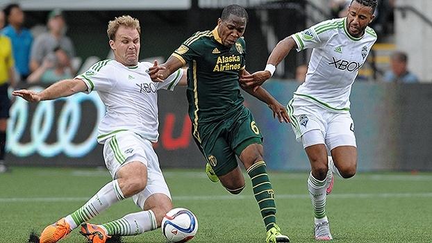 Com golaço de cabeça e empate aos 48 minutos, Sounders e Timbers ficam no 2 a 2 na MLS