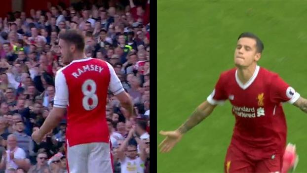 Falta de Coutinho, chutaço de Ramsey e mais; veja os golaços da última rodada da Premier League