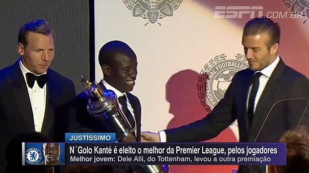 N'Golo Kante é eleito melhor jogador da Premier League pela associação de jogadores