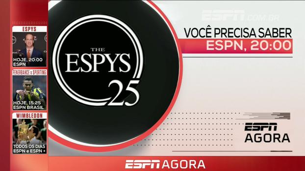 Amistoso internacional, ESPYS  e mais; veja a programação desta quarta-feira nos canais ESPN