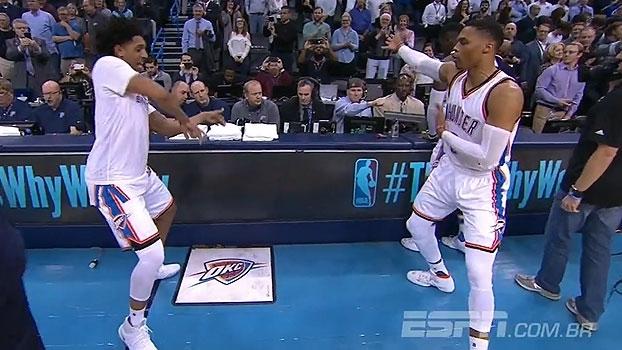 Eles estão de volta! Westbrook e Cameron Payne mostram entrosamento nas danças