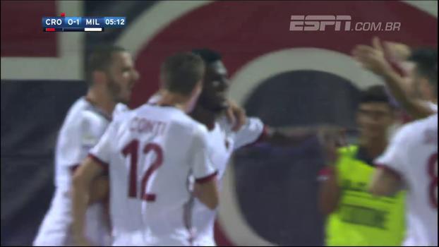 Fora de casa, Milan estreia com vitória no Italiano diante do Crotone