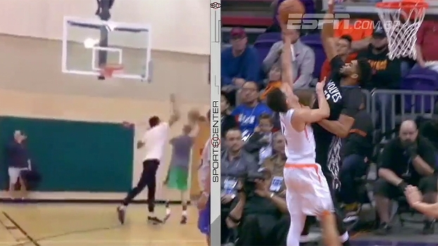 Sem dó! Karl-Anthony Towns mostra como se dá um 'tocaço' no basquete