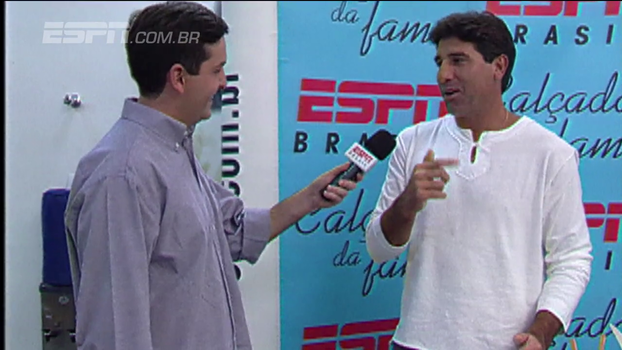 Quem viu? Há 10 anos, Renato Gaúcho marcava a calçada da fama da ESPN e já conhecia a receita para a Libertadores