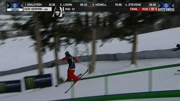 A medalha de Prata de Keri Herman no Ski Slopestyle Feminino
