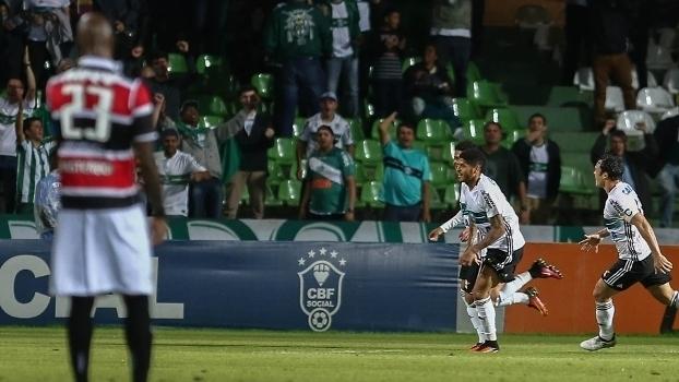 Brasileiro: Gol de Coritiba 1 x 0 Santa Cruz
