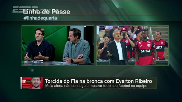 Atuação abaixo do esperado de Éverton Ribeiro é tema de debate no 'Linha de Passe'; o meia deve sair do time?