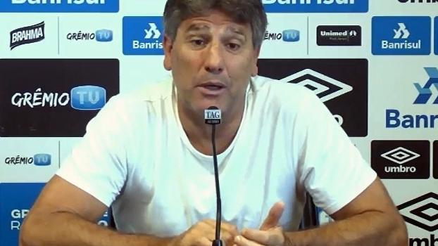 Renato Gaúcho enumera desfalques, mas elogia substitutos: 'É importante ter um grupo bom'
