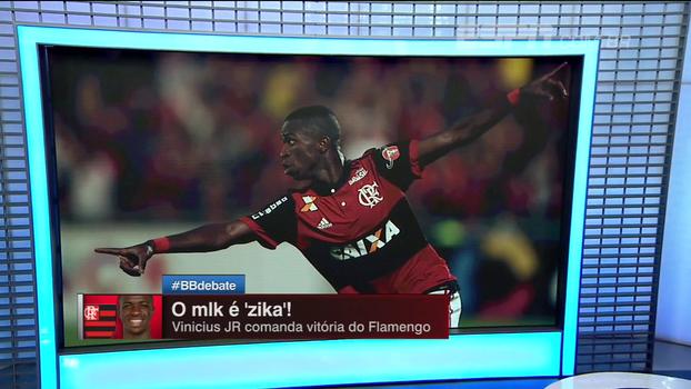 'Foi a primeira vez que foi o Vinicius Junior que esperávamos', BB Debate analisa atuação de joia do Flamengo