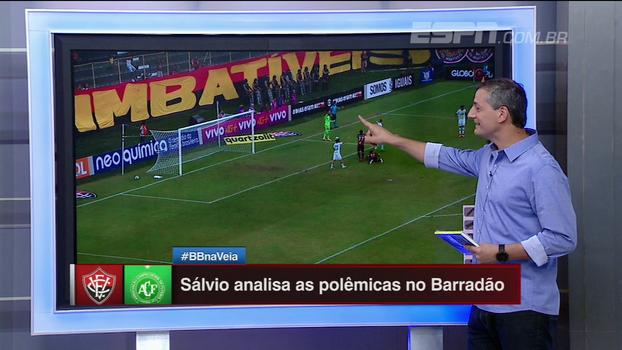 Sálvio explica por que gol foi legal e mostra divergência entre árbitro de linha e bandeirinha em Vitória x Chapecoense