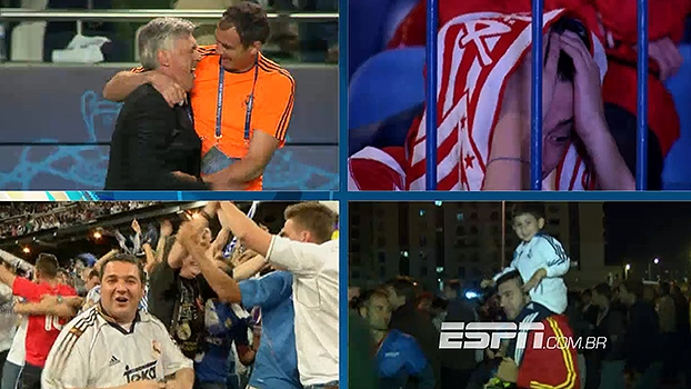 Alegria, emoção, desespero e lágrimas: as diferentes reações da torcida ao longo da final da Champions