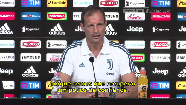 Allegri prevê partida difícil na estreia da Juventus no Italiano