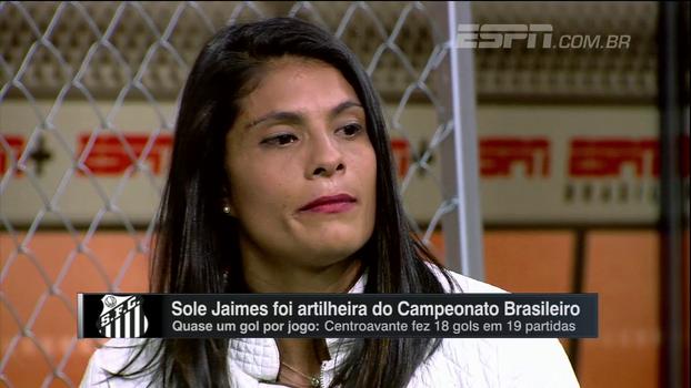 Artilheira do Santos, Sole Jaimes chora com mensagem da família e relata dificuldades do futebol feminino no Resenha