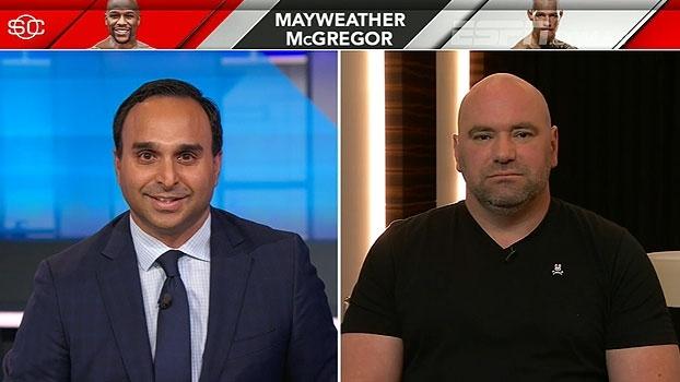 Dana White dá detalhes da negociação para luta entre McGregor e Mayweather: 'O impossível foi feito'