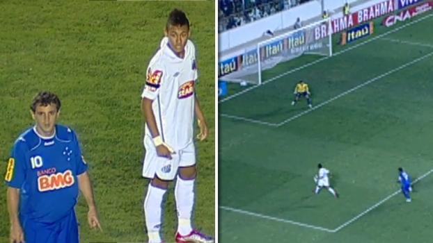 Em duelo de Neymar x Montillo, Alex Sandro fez golaço e Santos bateu Cruzeiro por 4 a 1 em 2010