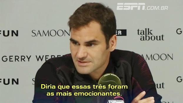 Federer revela títulos que foram mais emocionantes para ele; veja quais