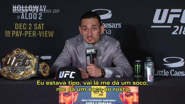Após derrotar Aldo, Holloway diz: 'Brasil deveria construir estátuas dele em todas as favelas'