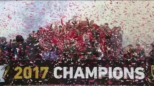 Veja as imagens da festa do Toronto FC após a conquista do título da MLS!