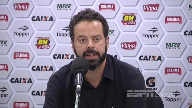 Presidente do Atlético-MG anuncia demissão de Micale: 'Não posso aceitar perder para o Vitória em casa'