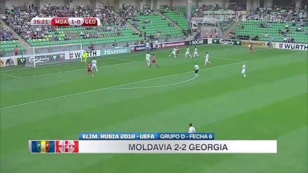 Com gol polêmico, Moldávia empata com Geórgia pelas Eliminatórias Européias