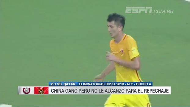 China até vira sobre o Catar, mas acaba fora da Copa nas Eliminatórias Asiáticas