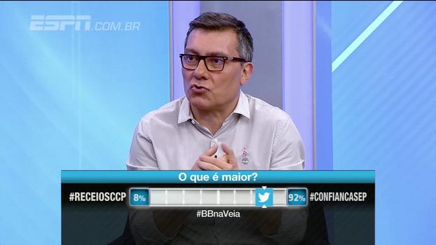 Calçade analisa curtida de Sassá em foto do rival: 'No mundo do futebol, tudo é bélico'