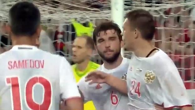 Amistoso internacional: Gols de Hungria 0 x 3 Rússia