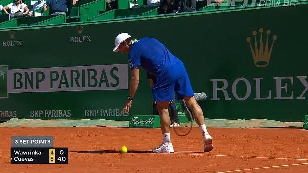 Wawrinka perde para Pablo Cuevas nas oitavas do Masters 1000 de Monte Carlo