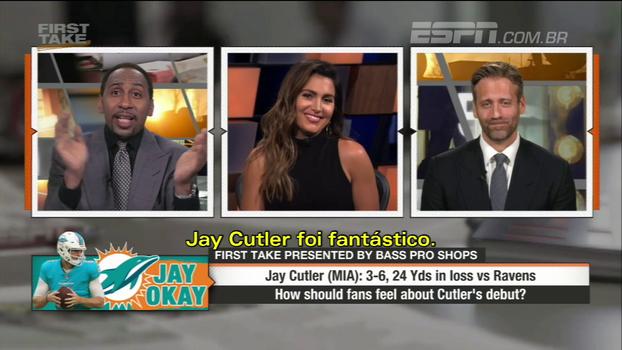 Comentarista da ESPN enlouquece com Jay Cutler nos Dolphins e destila ironia: 'Talvez eles batam os Patriots!'