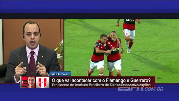 Presidente do Instituto Brasileiro de Direito Desportivo explica situação de Guerrero no Fla após suspensão
