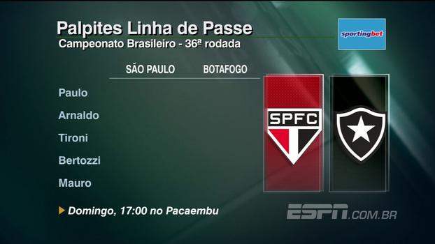 Confira os palpites do 'Linha de Passe' para os jogos da 36ª rodada do Brasileiro