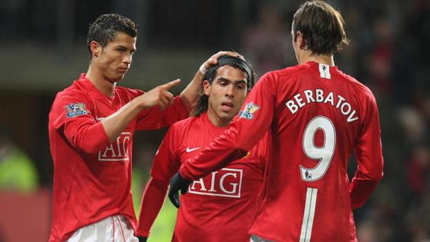 Goleada do United sobre o West Ham em 2008 teve show de golaços e gols de CR7 e Tévez