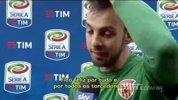 Herói contra o Milan, Brignoli relata momento do gol: 'Saltei e fechei os olhos'
