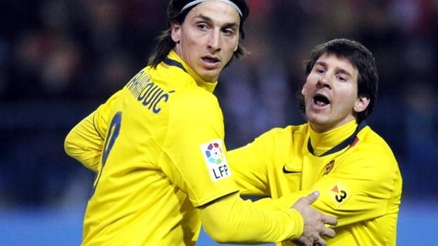 Ibra vê Messi acima de todos e avisa: 'Não preciso de um prêmio para saber que sou o melhor'