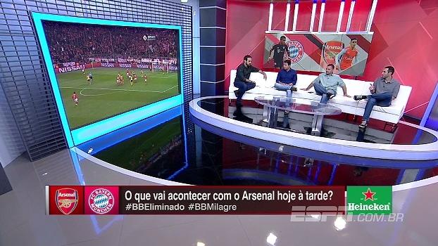 Comentaristas do Bate Bola Bom Dia não acreditam em virada do Arsenal sobre o Bayern