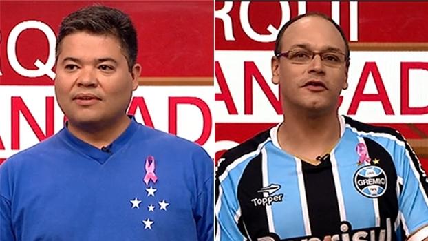 Arquibancada F.C. - Fase 1: representantes de Cruzeiro e Grêmio fazem o discurso de abertura