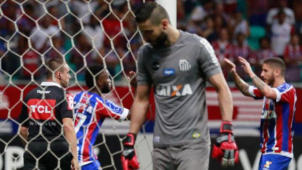 Brasileiro: Gols de Bahia 3 x 1 Santos