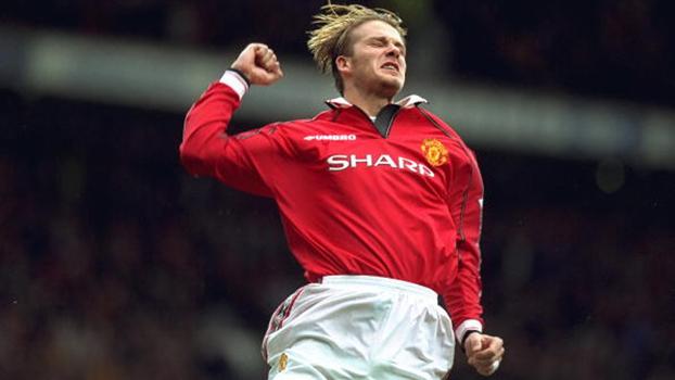 Em 1998, Beckham fez gol de falta no fim e salvou o United contra o Leicester; relembre