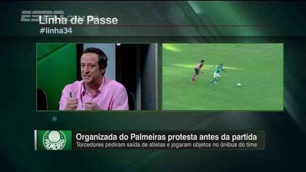 Gian comenta protesto de organizada palmeirense e diz que maior problema do time é tático, não falta de empenho