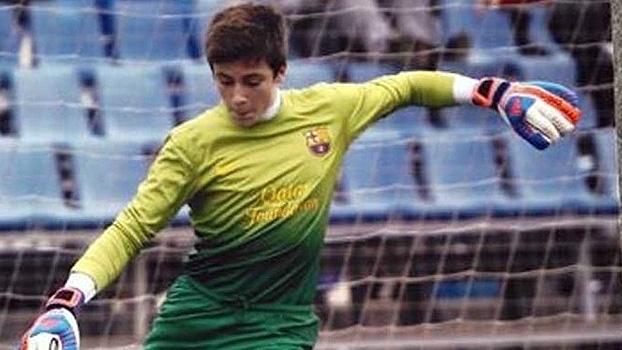 Goleiro da categoria de base do Barcelona pega seis pênaltis f24fd43841293