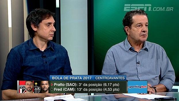 'Linha' compara Pratto e Fred e Juca escolhe favorito como 'melhor do Brasil': 'Um baita jogador'