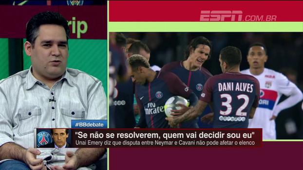 Bertozzi critica postura de técnico do PSG no entrevero entre Neymar e Cavani