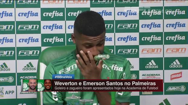 Apresentado no Palmeiras, Emerson Santos se enrola durante coletiva